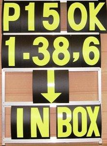 Pit Board numbers set GP